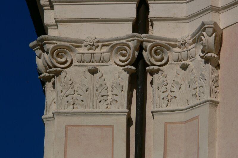 Dettaglio della Chiesa dei Santi Cosma e Damiano